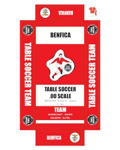 BENFICA. self adhesive team box labels.