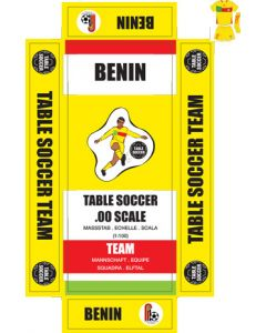 BENIN. Self adhesive team box labels.