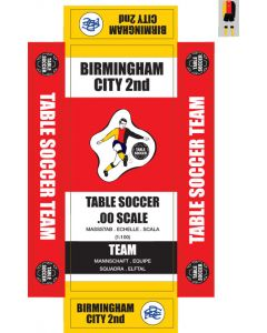 BIRMINGHAM CITY 2ND 1975-76. self adhesive team box labels.