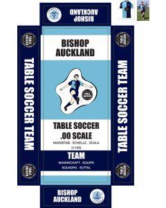 BISHOP AUCKLAND. self adhesive team box labels.