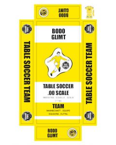 BODO GLIMT. self adhesive team box labels.