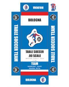 BOLOGNA. self adhesive team box labels.