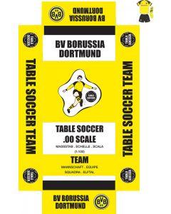BORUSSIA DORTMUND (YELLOW SHIRT, BLACK SHOULDERS). self adhesive team box labels.
