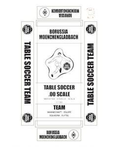 BORUSSIA MOENCHENGLADBACH. self adhesive team box labels.