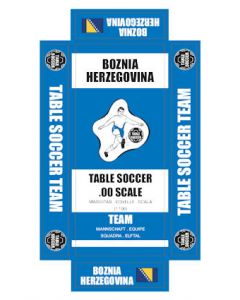 BOZNIA HERZEGOVINA. self adhesive team box labels.