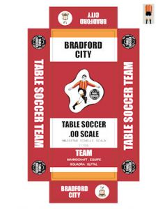 BRADFORD CITY. self adhesive team box labels.