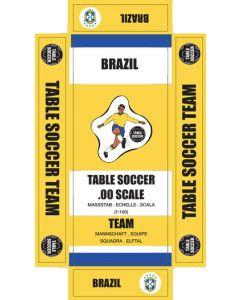 BRAZIL 1ST. self adhesive team box labels.