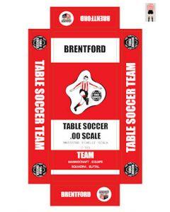 BRENTFORD. self adhesive team box labels.