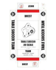 BREST. self adhesive team box labels.