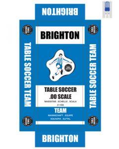 BRIGHTON. self adhesive team box labels.