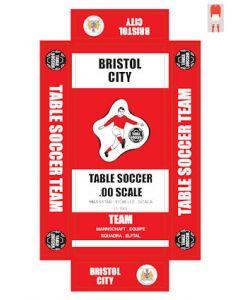 BRISTOL CITY. self adhesive team box labels.