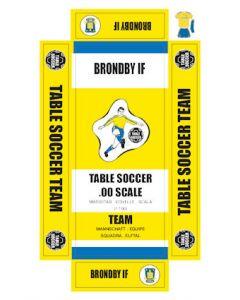 BRONDBY IF. self adhesive team box labels.