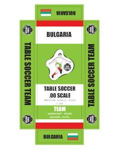 BULGARIA. self adhesive team box labels.
