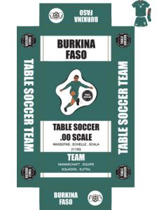 BURKINA FASO. Self adhesive team box labels.