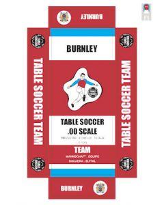BURNLEY. self adhesive team box labels.