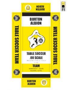 BURTON ALBION. self adhesive team box labels.