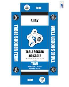 BURY. self adhesive team box labels.