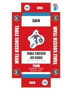 CAEN. self adhesive team box labels.