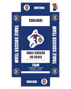 CAGLIARI. self adhesive team box labels.
