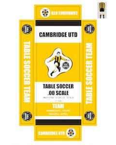 CAMBRIDGE UTD. self adhesive team box labels.