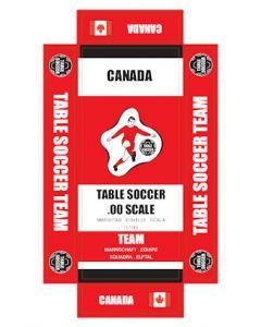 CANADA. self adhesive team box labels.