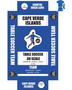 CAPE VERDE ISLANDS. Self adhesive team box labels.