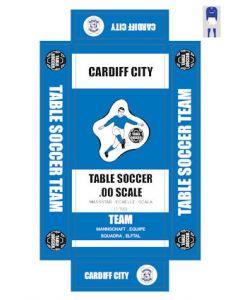 CARDIFF CITY. self adhesive team box labels.