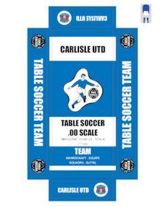 CARLISLE UTD. self adhesive team box labels.