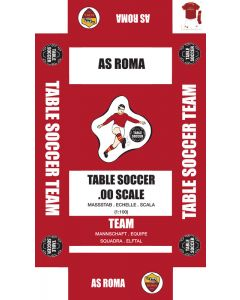 AS ROMA 1ST. self adhesive team box labels.