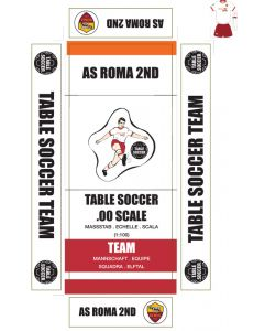 AS ROMA 2ND. self adhesive team box labels.