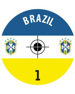 BRAZIL DECALS. (24 base stickers with badge, name & numbers)