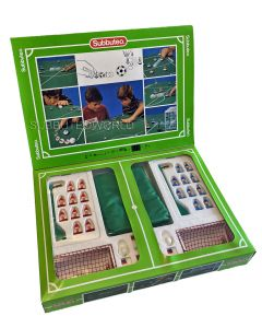 001. 60140 SUBBUTEO CLUB EDITION BOX SET. With 2 LW Teams (Blue Team Has Light Blue Bases, Black Discs., Goals, Balls, Rules, Pitch, Corner Flags & Poster/Catalogue. Mint Condition Shop Stock.