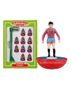 CATANIA. Retro Subbuteo Team. Modelled on the LW Figure & Bases From the 1980's.