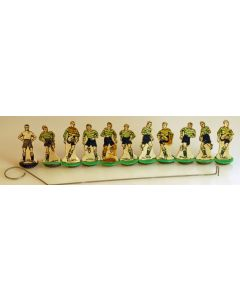 CARD 1940's/50's ORIGINAL NEWFOOTY TEAM. Very Rare Green Hoops With Black Shorts. The Colours Of Sporting Lisbon.