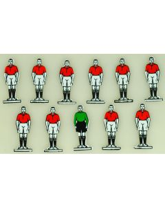 CELLULOID TEAM REF 01. MANCHESTER UTD. ARSENAL. WALES. mint, no bases.