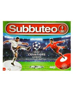001. 2021 CHAMPIONS LEAGUE OFFICIAL LICENSED SUBBUTEO BOX SET. Now With New Design Flexible Figures In The Colours of Liverpool & Real Madrid.