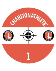 CHARLTON DECALS. (24 base stickers with badge, name & numbers)