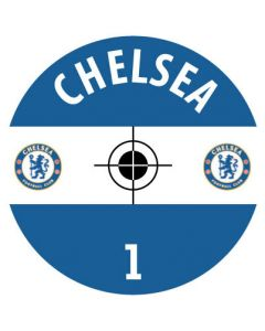 CHELSEA DECALS. (24 base stickers with badge, name & numbers)