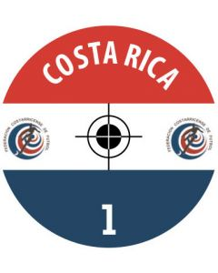 COSTA RICA DECALS. (24 base stickers with badge, name & numbers)