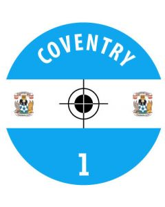 COVENTRY DECALS. (24 base stickers with badge, name & numbers)