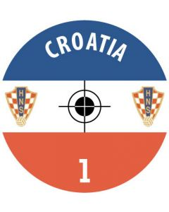 CROATIA DECALS. (24 base stickers with badge, name & numbers)