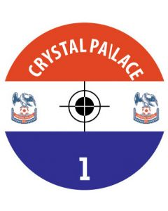 CRYSTAL PALACE DECALS. (24 base stickers with badge, name & numbers)