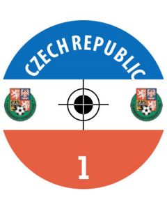 CZECH REPUBLIC DECALS. (24 base stickers with badge, name & numbers)