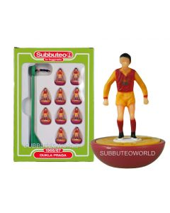 DUKLA PRAGA. Retro Subbuteo Team. Modelled on the LW Figure & Bases From the 1980's.