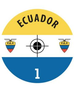 ECUADOR DECALS. (24 base stickers with badge, name & numbers)