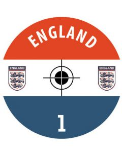 ENGLAND DECALS. (24 base stickers with badge, name & numbers)