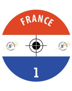 FRANCE DECALS. (24 base stickers with badge, name & numbers)