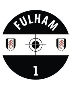 FULHAM DECALS. (24 base stickers with badge, name & numbers)