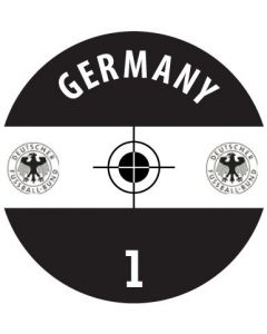 GERMANY DECALS. (24 base stickers with badge, name & numbers)