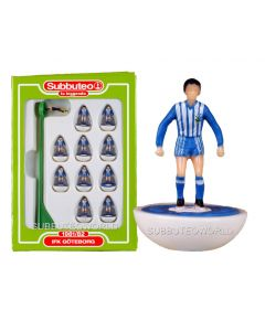 GOTENBORG. Retro Subbuteo Team. Modelled on the LW Figure & Bases From the 1980's.